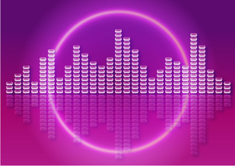 abstract music background with equalizer