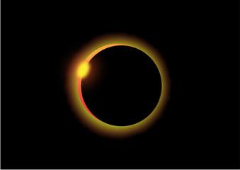 3d render of a Solar Eclipse on black background