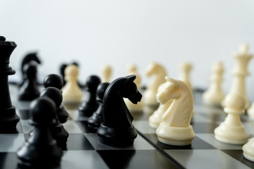 International chess sport of thinking game on the floor Wall mural