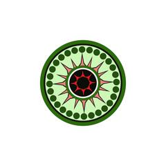 Aboriginal art dots painting icon logo design template