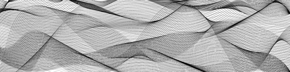 Poster Abstract wave abstract wave lines on white background