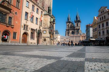 Autocollant pour porte Prague street in prague