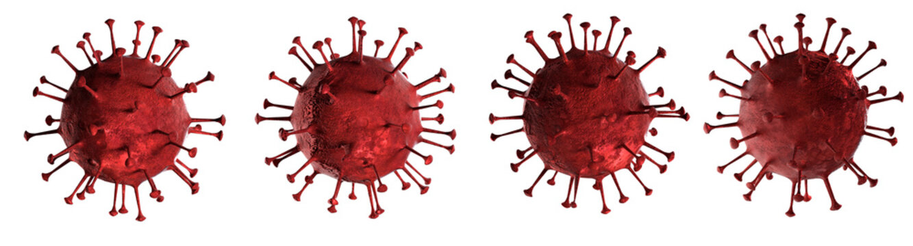 3D illustration Coronavirus disease or COVID-19 virus body isolated on white background generated by 3D rendering.