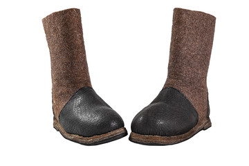 Felted boots - the best special shoes for the cold Wall mural