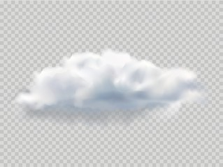 Realistic isolated cloud for template decoration and mockup covering on the transparent background. Concept of storm and sky. EPS 10