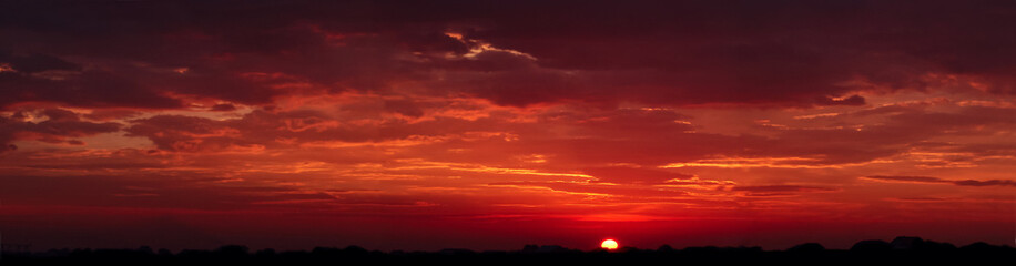 Foto op Canvas Rood traf. Beautiful sunset