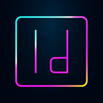 editorial, InDesign nolan icon. Simple thin line, outline vector of Editorial design icons for ui and ux, website or mobile application