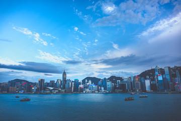 Fotomurales - Hong Kong Victoria Harbour view; Hong Kong Cityscape
