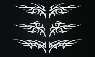 Vector illustration of isolated Tribal tattoo pattern