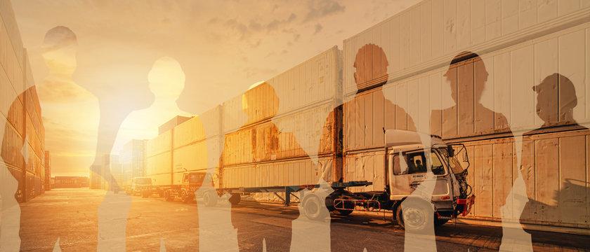 logistics industrial banner