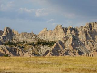 Garden Poster Natural Park Jagged peak in Badlands National Park, South Dakota