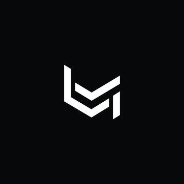Minimal elegant monogram art logo. Outstanding professional trendy awesome artistic LM ML initial based Alphabet icon logo. Premium Business logo White color on black background