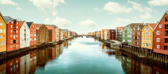 Obraz Panorama of Trondheim, Norway - fototapety do salonu