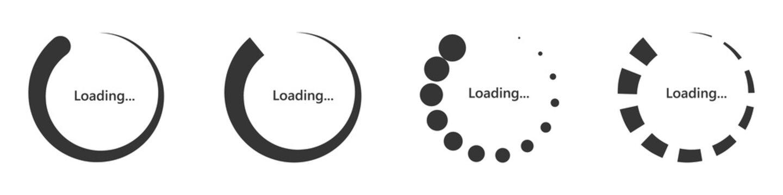 Loading circles set. Load vector icon.