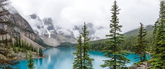 Maligne Lake in British Columbia, Canada Wall mural