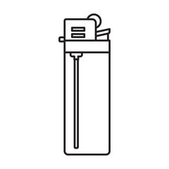 Lighter vector icon.Outline vector icon isolated on white background lighter .