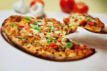 Pizza , indian food