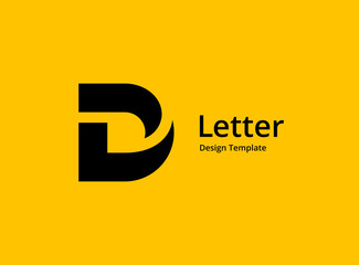 Fototapeta Letter D logo icon design template elements obraz