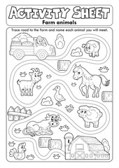 Activity sheet farm animals 2