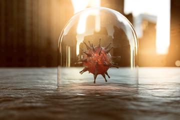Virus unter Glaskuppel