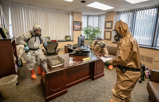 W.Va. Guard sanitizes workspaces for West Virginia Higher Education Policy Commission