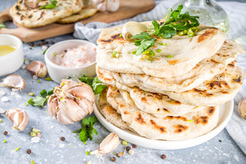 Indian naan flat bread Fotomurales