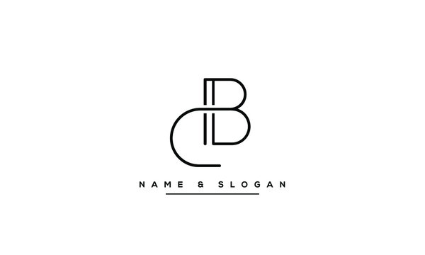 CB ,BC ,C ,B  Letter Logo Design with Creative Modern Trendy Typography
