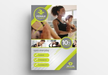 Green Gym Fitness Flyer Layout