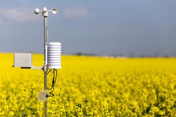 Smart agriculture and smart farm technology concept. Weatherstation Fototapete