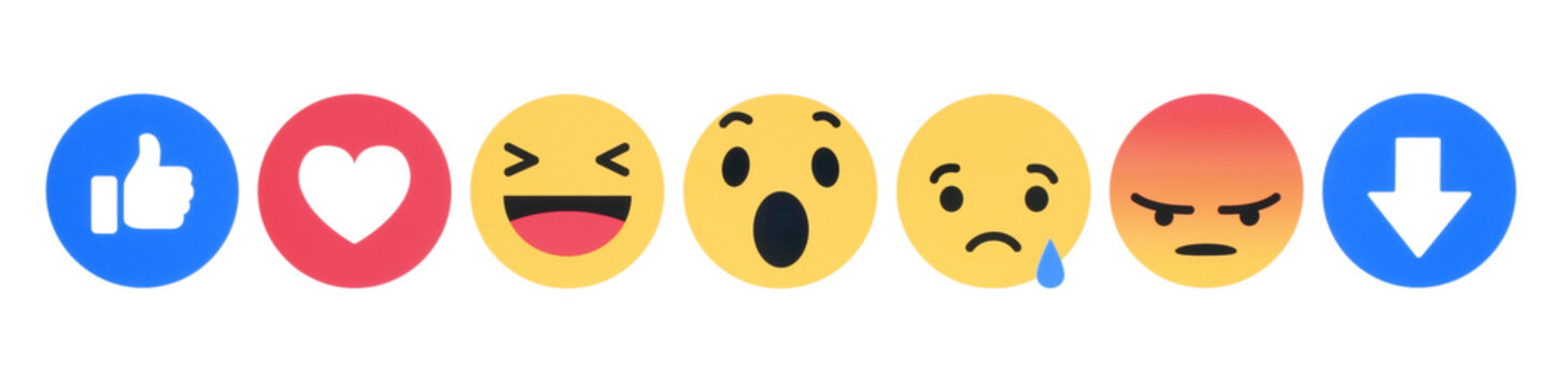 New Facebook like button 7 Empathetic Emoji Reactions