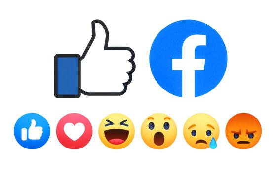 Facebook like button 6 Empathetic Emoji Reactions
