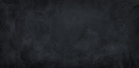 Wall Mural - black background, chalkboard texture for website backgrounds, old vintage marbled watercolor painted paper or textured antique wall with distressed mottled grunge