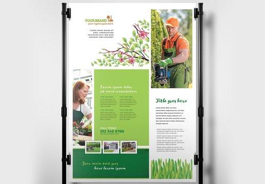 Gardener Poster Layout