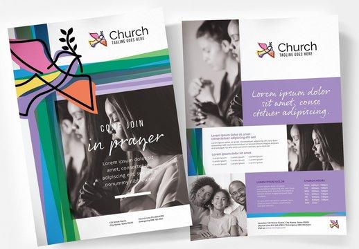 Modern Church Flyer Layouts