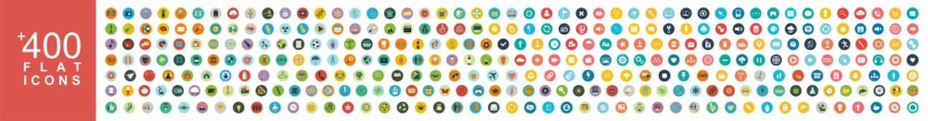 Set of 400 Minimal colorful icon vector. Fototapete