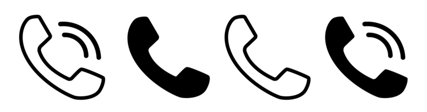 Contact us.Telephone, communication. icon in flat style. Vector illustration. Phone icon set. Telephone symbol. icon telephone call. Phone on white background.Vector illustration.