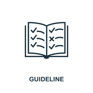 Guideline icon. Simple element from regulation collection. Filled Guideline icon for templates, infographics and more
