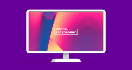 Modern abstract color background wallpaper vector monitor illustration concept
