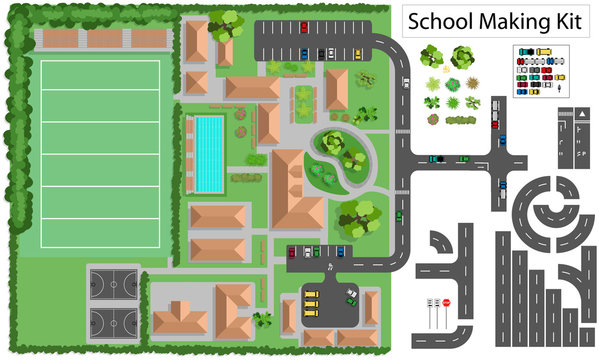 School and suburb Road Maker Construction Kit more in my portfolio