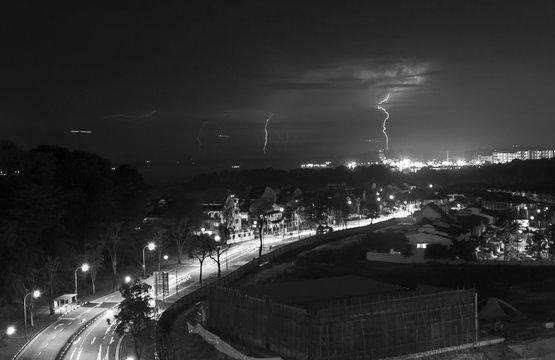 Lightnings Over A City