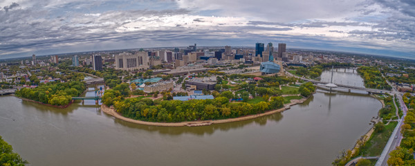 Aerial View of Downtown Winnipeg, Manitoba
