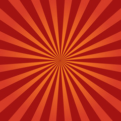 Wall Mural - grunge sunburst red abstract background