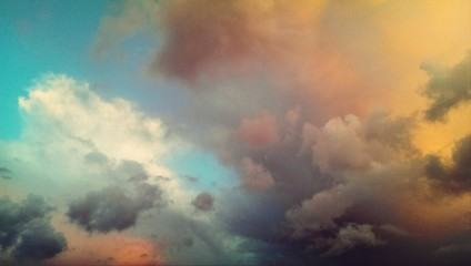 Fototapeta Cloudscape At Sunset