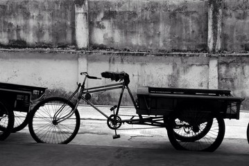Old Fashioned Bicycle With Trailer