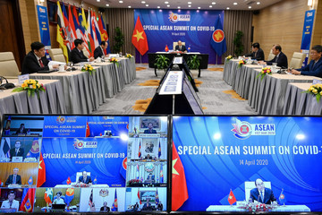 Vietnam's Prime Minister Nguyen Xuan Phuc chairs special video conference with leaders of the Association of Southeast Asian Nations (ASEAN) on the coronavirus disease