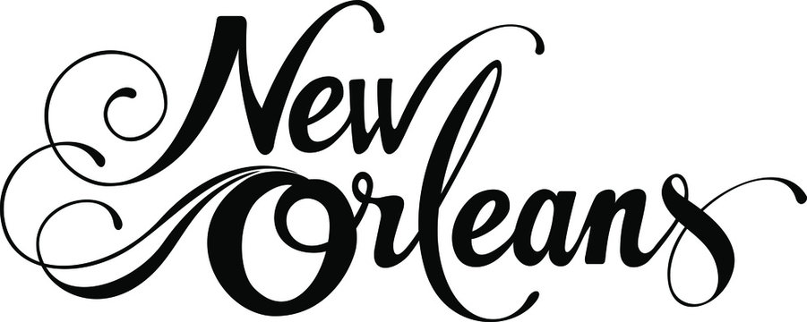 New Orleans - custom calligraphy text
