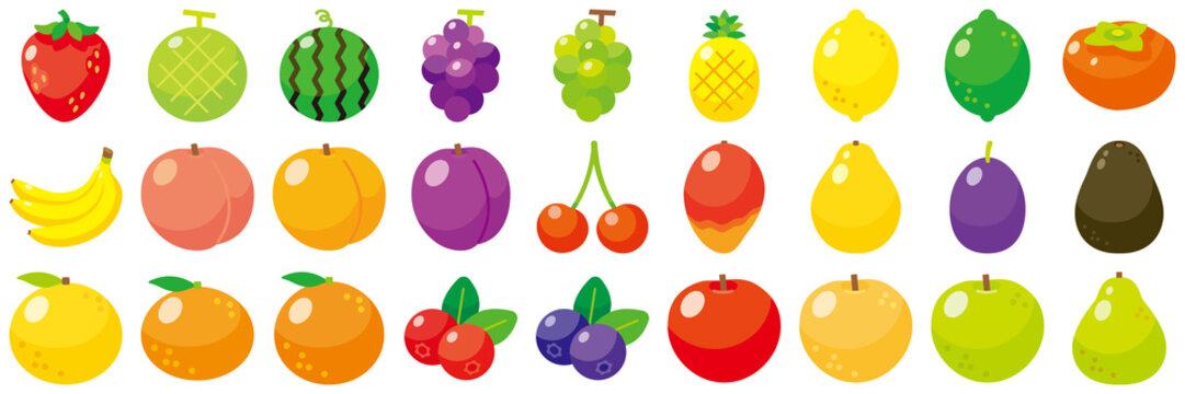 フルーツアイコンセット-Fruit vector icon