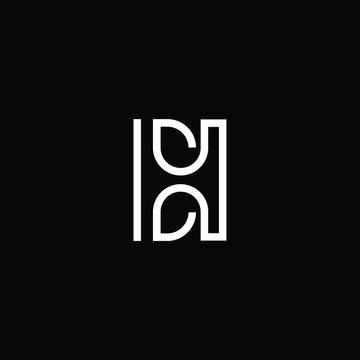 Minimal elegant monogram art logo. Outstanding professional trendy awesome artistic HB BH HE EH initial based Alphabet icon logo. Premium Business logo White color on black background