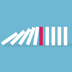 stop domino effect concept- vector illustration