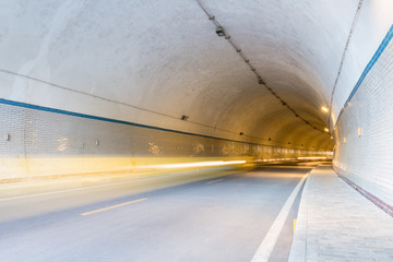 Fotomurales - tunnel and light trails